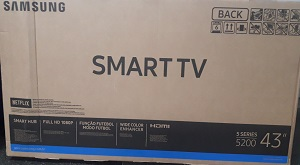 SORTEIO SMART TV LED 43
